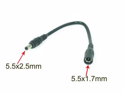 Picture of PCH For Laptop DC Tip Converter-Wire 5.5x1.7mm To  5.5x2.5mm Plug, 200mm, 60 Watts