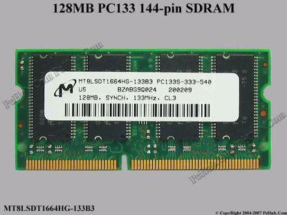 MT8LSDT1664HG-133B3 , PC133U-333-542-C
