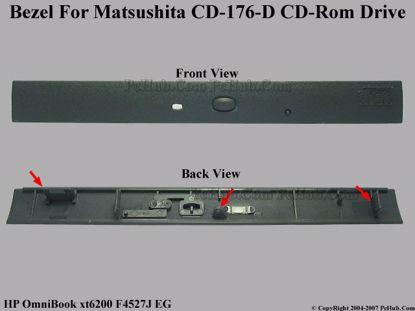 Picture of HP OmniBook xt6200 F4527J EG CD-ROM - Bezel CD-176-D