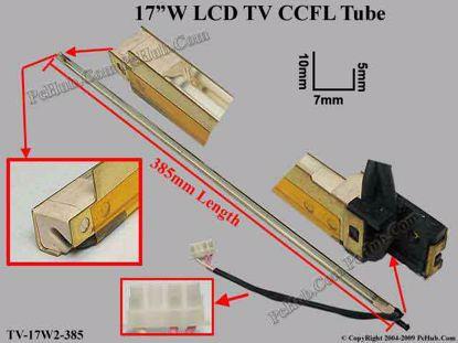 Length: 385x7mm, Side High: 11/6mm, TV-17W2-385