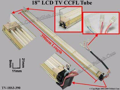 Length: 390mm, Side Height: 21/9mm, TV-18S3-390