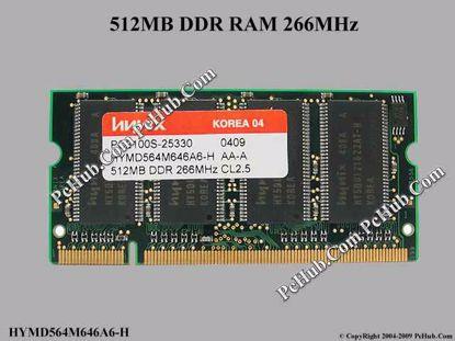 HYMD564M646A6-H , PC2100S-25330