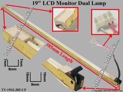 Length: 385x9mm, Side Height: 7/7mm, TV-19S2-385-U
