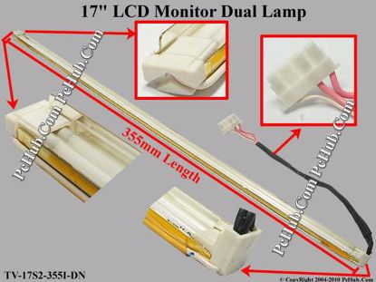 Length: 355mm, Side Height: 7/4mm, TV-17S2-355I-DN
