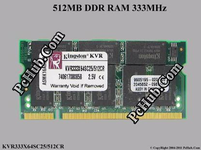 KVR333X64SC25/512 CR