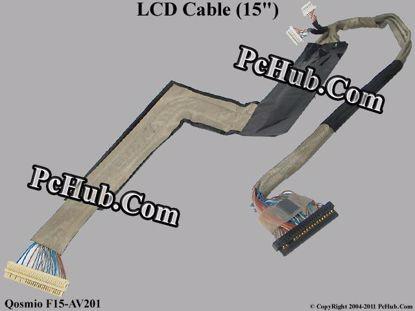 "Picture of Toshiba Qosmio F15-AV201 LCD Cable (15"") 15.0"""