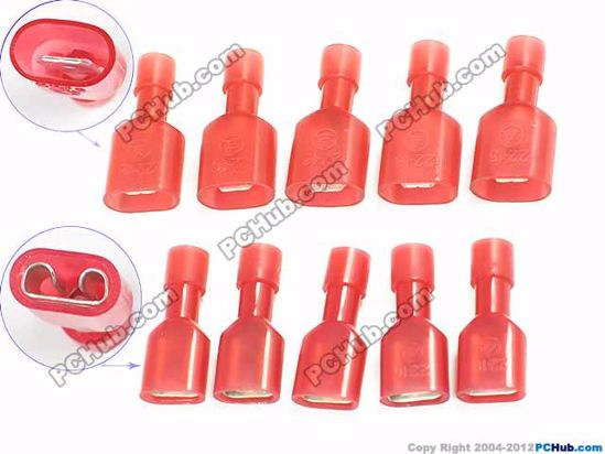 66549- MDFN 1.25-250, FDFN 1.25-250- Red