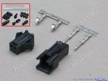 67675- SM 2.54mm. 2513-HP. Black color