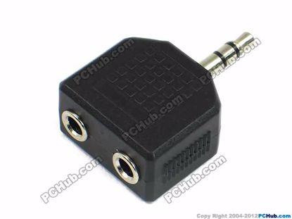 68239- Stereo. Black. Silver Tone Plug