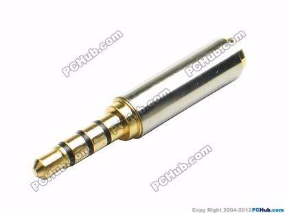 TRRS Stereo. Gold Plug. Stainless Steel Han