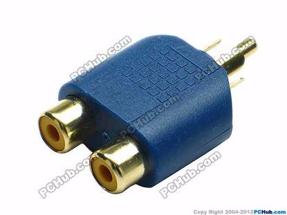 69905- Purple / Gold Tone Plug