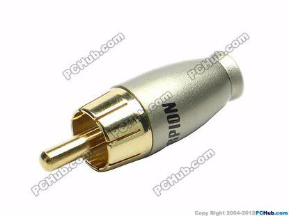69941- Black Belt Alloy Handle. Gold Tone Plug