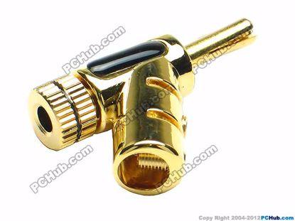 70023- 0846. Screw. Black Belt. Gold Plated Plug