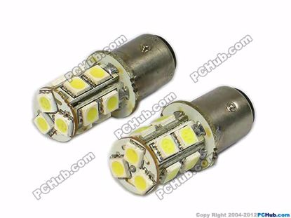 74989-BAY15D. 13x5050 SMD White LED Bulbs
