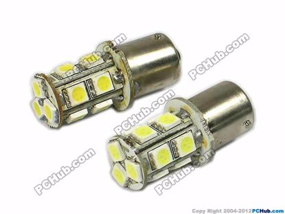 74990-BAY15S. 13x5050 SMD White LED Bulbs