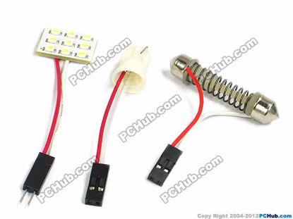 75080- T10 / Festoon. 9x3020 SMD White LED Light