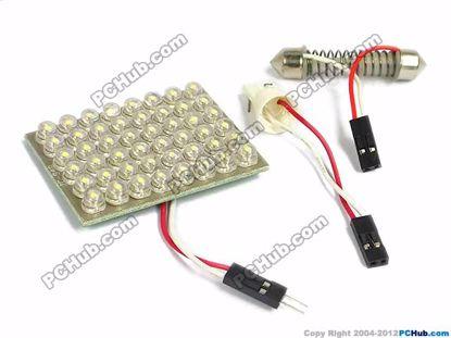 75094- T10 / Festoon. 48 x Straw Hat White LED Lig