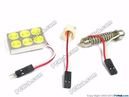 75097- T10 / Festoon. 6 x  White LED Light