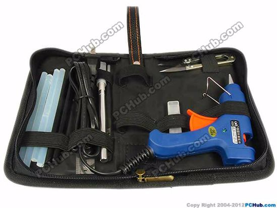 Glue gun / Craft knife / 15cm Ruler / Tweezers / S