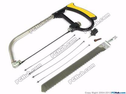 5 steel saw blades + 1 wood saw blade