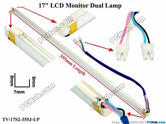 Length: 355x7mm, Side Height: 9/6mm, TV-17S2-355J-