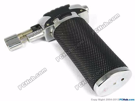 Butane power piezo ignition, Black+Silver