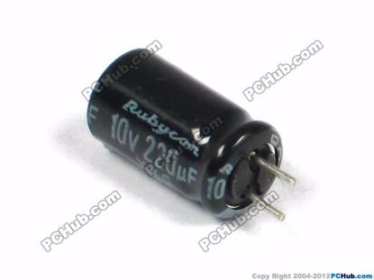 10v 220uF, 6x11.5mm Height
