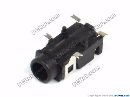 PJ-321A, SMT 4-pin, Black