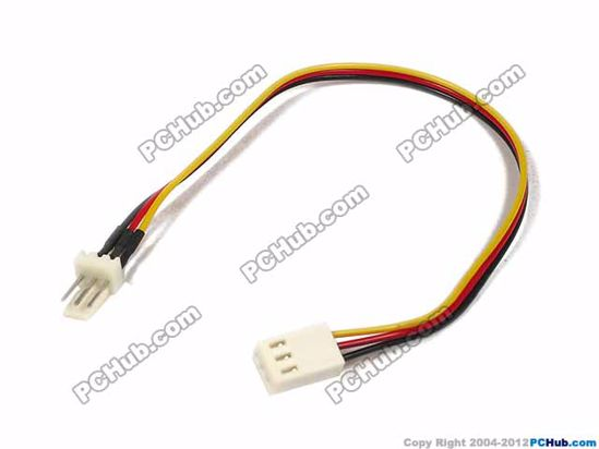 Cable Length: 195mm, 3 wire 3-pin connector