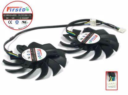 FD7010H12S, Black, 2 Fans