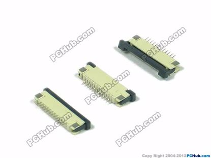 12-pin, 1.0mm Pitch, H=2.5mm, SMT type