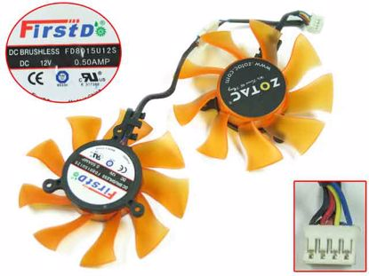 FD8015U12S, Trans. Orange, Dua-Fan