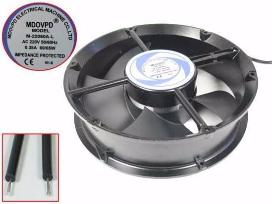 MDOVPD M-22060A-L Server - Round Fan Steel, rd220x220x60, 2w, AC 220V 0.38A