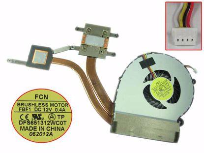 Picture of VIZIO CA27 Series Cooling Fan  FBF1, 12V 0.40A, 30x4Wx4P, Heatsink Fan