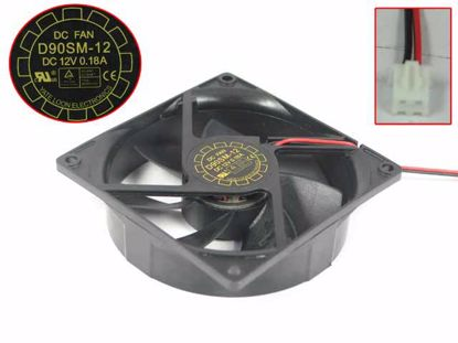 Picture of Y.L FAN / Yate Loon D90SM-12 Server - Square Fan 12V0.18A, sq90x90x25mm, 2W, New