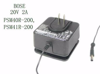 Picture of BOSE PSM40R-200 AC Adapter- Laptop 20V 2A, 5.5/2.5mm, Barrel Tip, Black