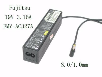 Picture of Fujitsu AC Adapter (Fujitsu) AC Adapter- Laptop FMV-AC327A, 19V 3.16A, 3.0/1.0mm, 2P, New