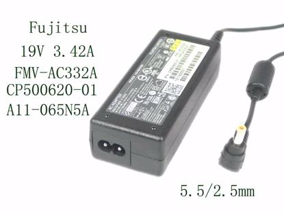 Picture of Fujitsu AC Adapter (Fujitsu) AC Adapter- Laptop FMV-AC332A, 19V 3.42A, 5.5/2.5mm, 2P, New