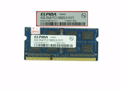 Picture of Elpida EBJ41UF8BCS0-DJ-F Laptop DDR3-1333 4GB, DDR3-1333, PC3-10600S , EBJ41UF8BCS0-DJ-F, La