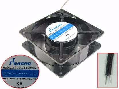 Picture of HENGRD HD1238HA2SA Server - Square Fan Steel, sq120x120x38, 2w, AC 240V 0.14A
