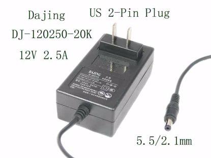 Picture of Dajing DJ-120250-20K AC Adapter 5V-12V DJ-120250-20K,  5.5/2.1mm