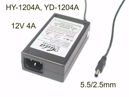 Picture of PCH OEM Power AC Adapter - Compatible YD-1204A, HY-1204A, 12V 4A 5.5/2.5mm, C14, New