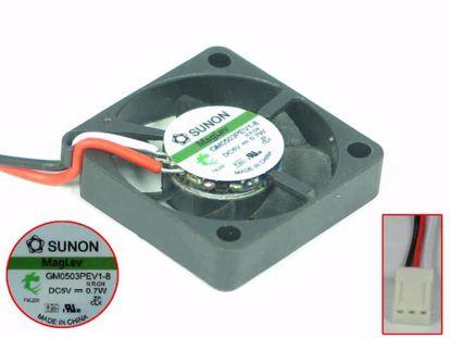 Picture of SUNON GM0503PEV1-8 Server - Square Fan N.R.GN, SF30x30x6, w3, 5V 0.7W