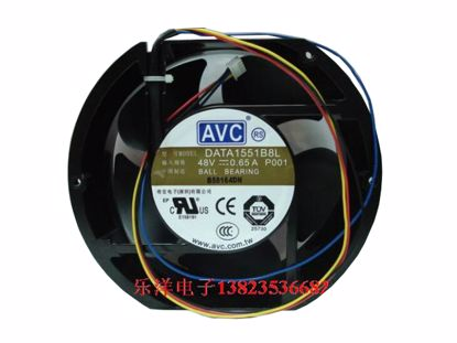 Picture of AVC DATA1551B8L Server-Round Fan DATA1551B8L, P001, Alloy Framed