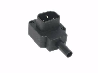 Picture of PCH Socket AC Cord Coupler Type 4a, C14 Male, 250V 10A, L Shape
