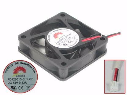 Picture of DOCENG FD126015-SL1 Server - Square Fan ZP, 12V0.13A, sq60x60x15mm, 2W