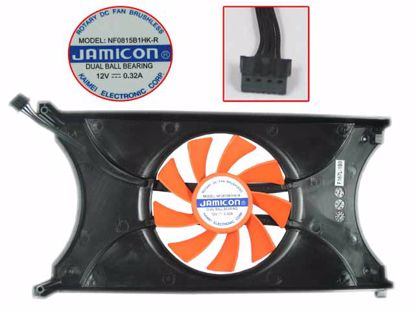 Picture of Jamicon NF0815B1HK-R Server - Frameless / GPU Fan 12V 0.32A, W80x4x4, L 189 W 103, Red, Plate