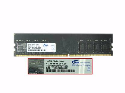 Picture of Team TED416G2400C16BK Desktop DDR4-2400 16GB, DDR4-2400, PC4-2400, TED416G2400C16BK
