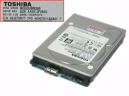 """Picture of Toshiba MQ03UBB250 HDD 2.5"""" USB 3.0 MQ03UBB250, AZA AA00/JP050U"""