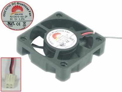 Picture of DOCENG FD124010-SS1 Server - Square Fan ZP, 12V0.07A, sq40x40x10mm, 2W